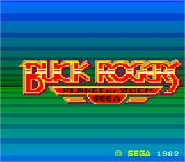 Title screen of Buck Rogers: Planet of Zoom on the Arcade.