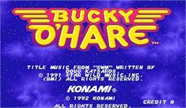 Title screen of Bucky O'Hare on the Arcade.