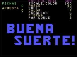 Title screen of Buena Suerte '94 on the Arcade.