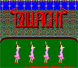 Title screen of Bullfight on the Arcade.