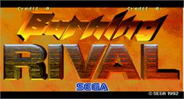 Title screen of Burning Rival on the Arcade.