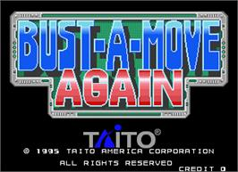 Title screen of Bust-A-Move Again on the Arcade.