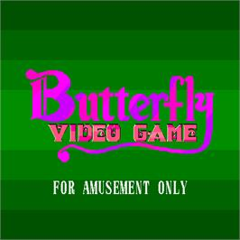 Title screen of Butterfly Video Game on the Arcade.