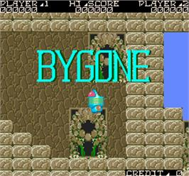 Title screen of Bygone on the Arcade.