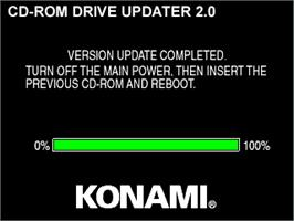 Title screen of CD-ROM Drive Updater 2.0 on the Arcade.
