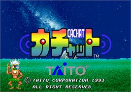 Title screen of Cachat on the Arcade.