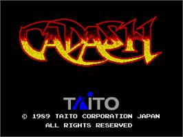Title screen of Cadash on the Arcade.