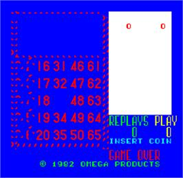 Title screen of Cal Omega - Game 12.5 on the Arcade.