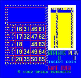 Title screen of Cal Omega - Game 13.4 on the Arcade.