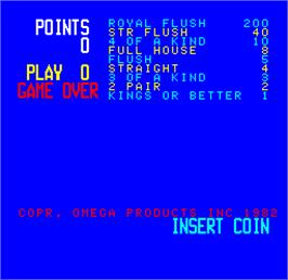 Title screen of Cal Omega - Game 15.7 on the Arcade.