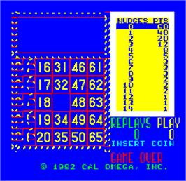 Title screen of Cal Omega - Game 17.6 on the Arcade.