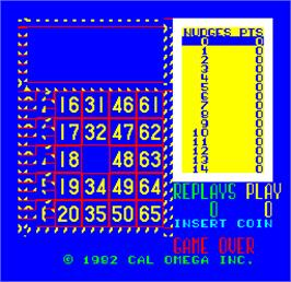 Title screen of Cal Omega - Game 18.1 on the Arcade.