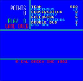 Title screen of Cal Omega - Game 18.6 on the Arcade.