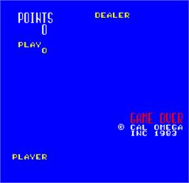 Title screen of Cal Omega - Game 20.4 on the Arcade.