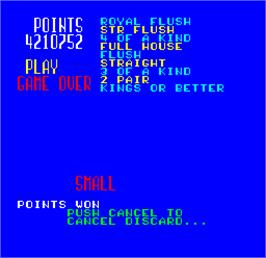 Title screen of Cal Omega - Game 22.7 on the Arcade.