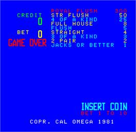 Title screen of Cal Omega - Game 24.0 on the Arcade.