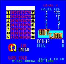 Title screen of Cal Omega - Game 24.6 on the Arcade.