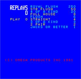 Title screen of Cal Omega - Game 7.6 on the Arcade.