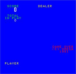 Title screen of Cal Omega - Game 8.0 on the Arcade.