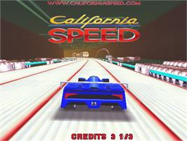 Title screen of California Speed on the Arcade.