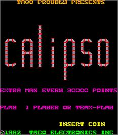 Title screen of Calipso on the Arcade.