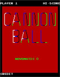 Title screen of Cannon Ball on the Arcade.