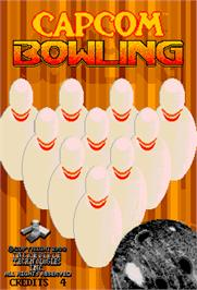Title screen of Capcom Bowling on the Arcade.