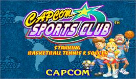 Title screen of Capcom Sports Club on the Arcade.