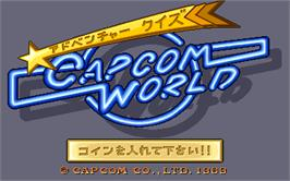 Title screen of Capcom World on the Arcade.