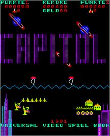 Title screen of Capitol on the Arcade.