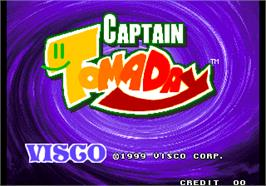Title screen of Captain Tomaday on the Arcade.