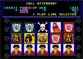 Title screen of Caribbean Gold II on the Arcade.