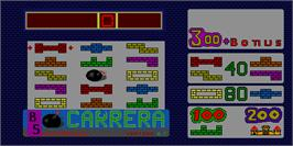 Title screen of Carrera on the Arcade.