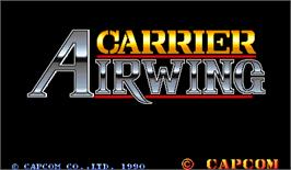 Title screen of Carrier Air Wing on the Arcade.