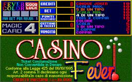 Title screen of Casino Fever 5.0 on the Arcade.