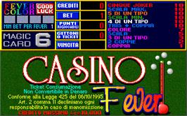 Title screen of Casino Fever 6.1 on the Arcade.