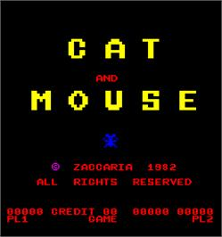 Title screen of Cat and Mouse on the Arcade.