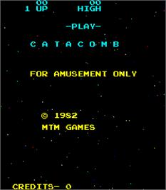 Title screen of Catacomb on the Arcade.