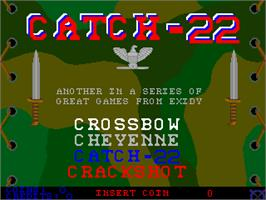 Title screen of Catch-22 on the Arcade.