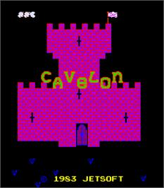 Title screen of Cavelon on the Arcade.