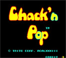 Title screen of Chack'n Pop on the Arcade.
