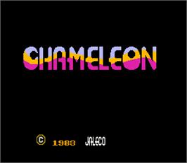 Title screen of Chameleon on the Arcade.