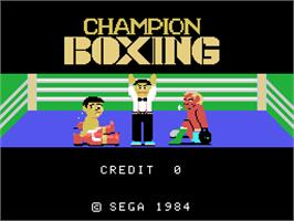 Title screen of Champion Boxing on the Arcade.
