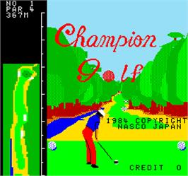 Title screen of Champion Golf on the Arcade.