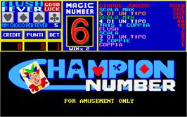 Title screen of Champion Number on the Arcade.