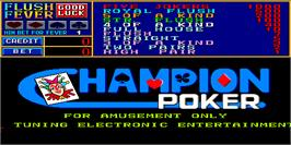 Title screen of Champion Poker on the Arcade.