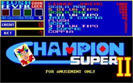 Title screen of Champion Super 2 on the Arcade.