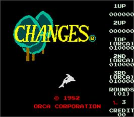 Title screen of Changes on the Arcade.