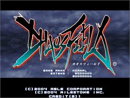 Title screen of Chaos Field on the Arcade.
