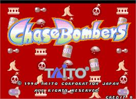Title screen of Chase Bombers on the Arcade.